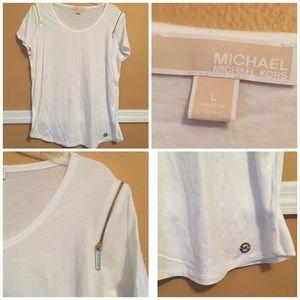 Michael Kors  Blouse With Zipper Details L
